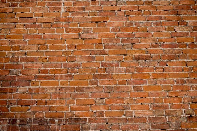 Vecchio muro di mattoni rosso immagini stock libere da diritti