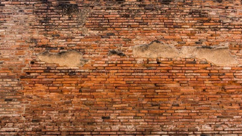 Vecchio muro di mattoni rosso ed arancio fotografia stock