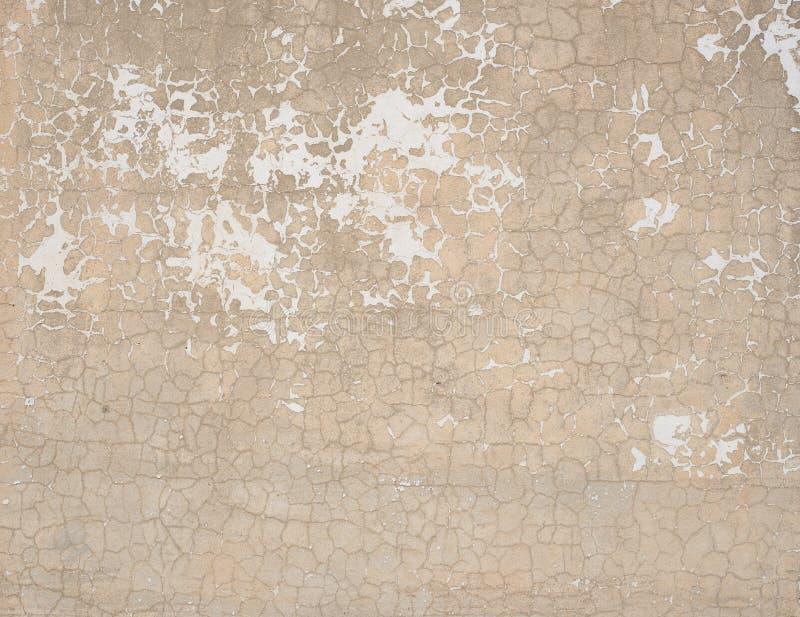 Vecchio muro di mattoni stagionato della pittura rosa incrinata fotografia stock libera da diritti
