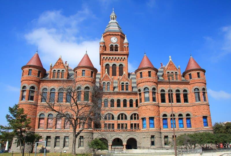 Vecchio museo rosso a Dallas, il Texas fotografia stock libera da diritti