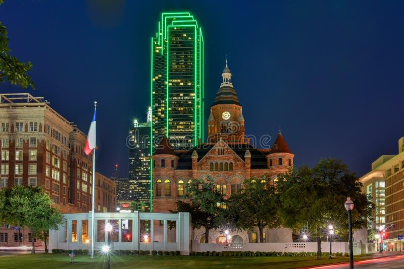 Vecchio museo rosso - Dallas, il Texas fotografia stock libera da diritti