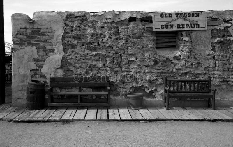 Vecchio negozio di pistola del Tucson immagine stock