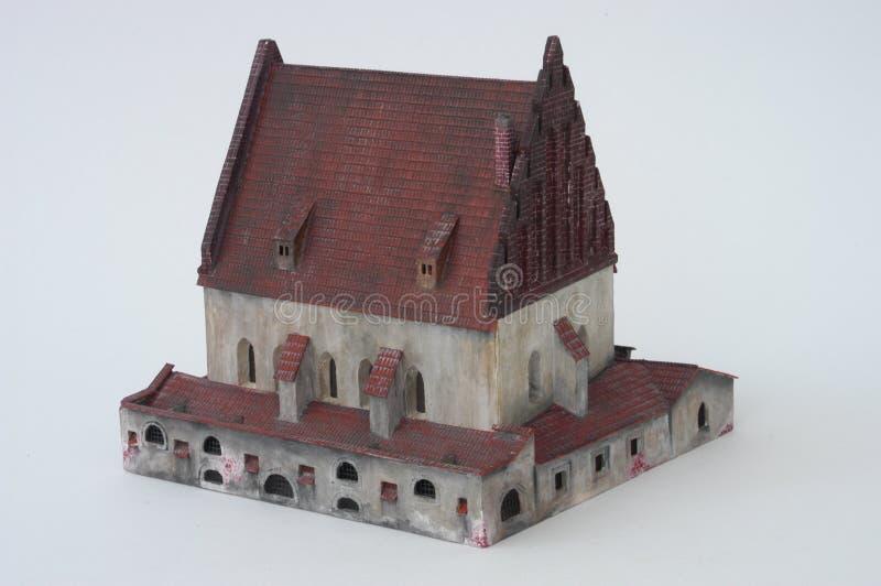 Vecchio-nuova sinagoga, Praga fotografia stock libera da diritti