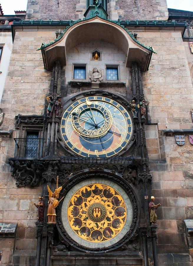 Vecchio orologio astronomico. fotografia stock libera da diritti