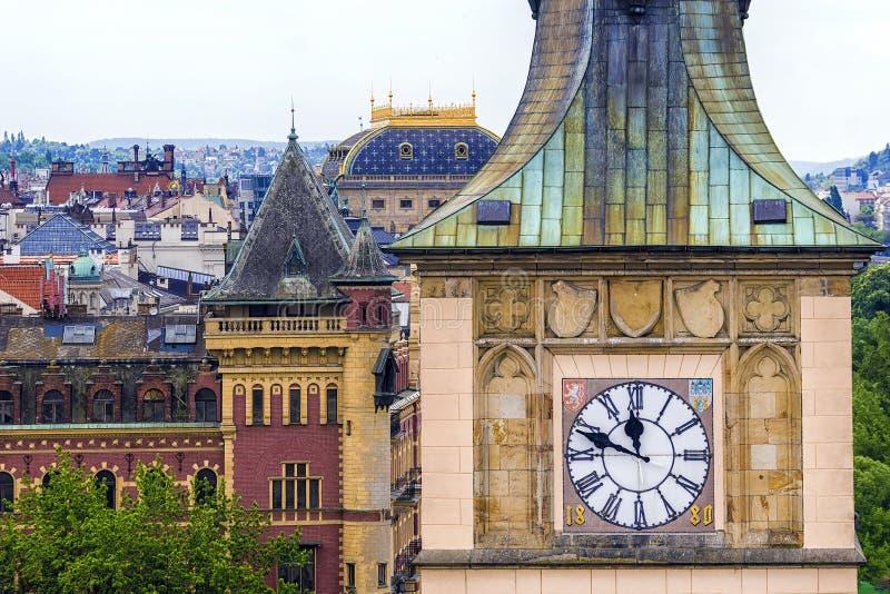 Vecchio orologio sulla torre di acqua di Città Vecchia, Praga fotografia stock