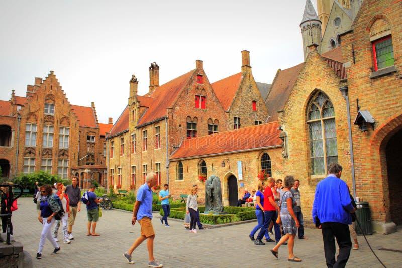 Vecchio ospedale Bruges Belgio fotografia stock