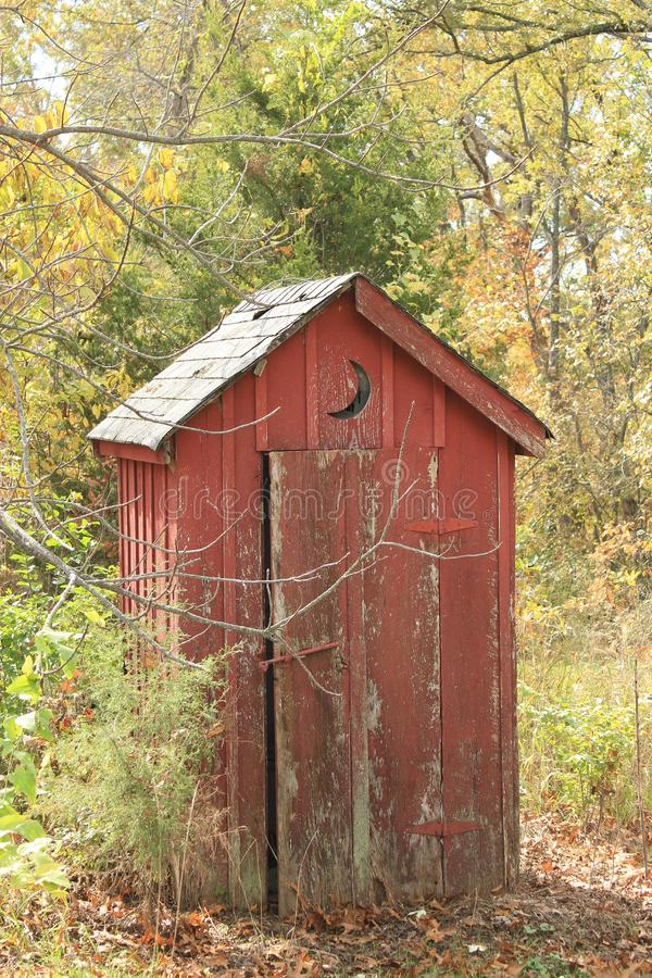Vecchio Outhouse fotografie stock