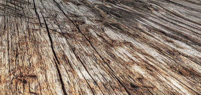 Vecchio paesaggio annodato incrinato avariato stagionato di alta risoluzione del contesto del tavolato di Pinewood fotografia stock libera da diritti
