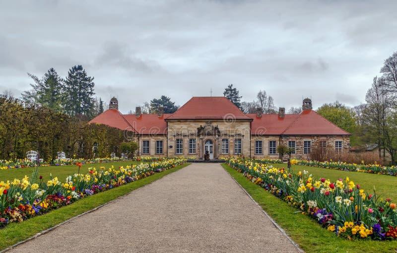 Vecchio palazzo in eremo, Bayreuth, Germania fotografia stock libera da diritti