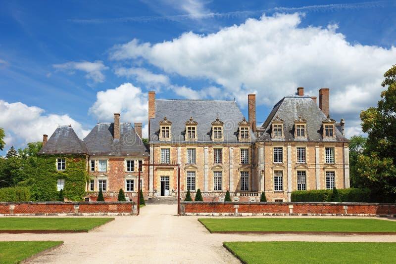 Vecchio palazzo in Francia. immagine stock