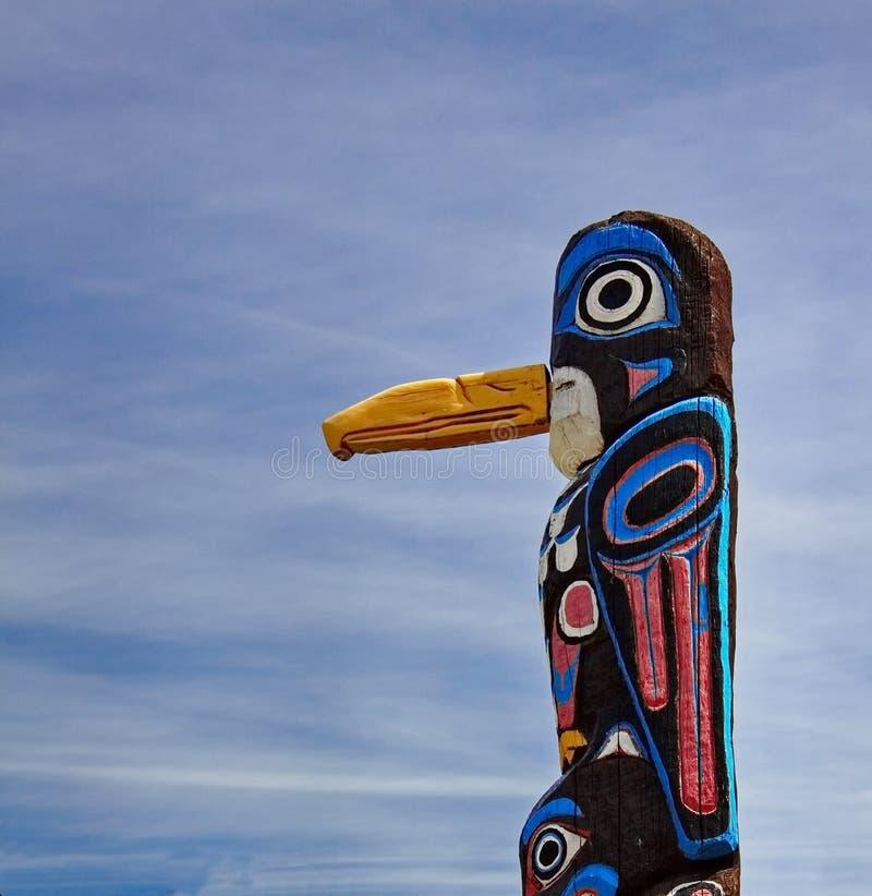 Vecchio palo di totem immagini stock