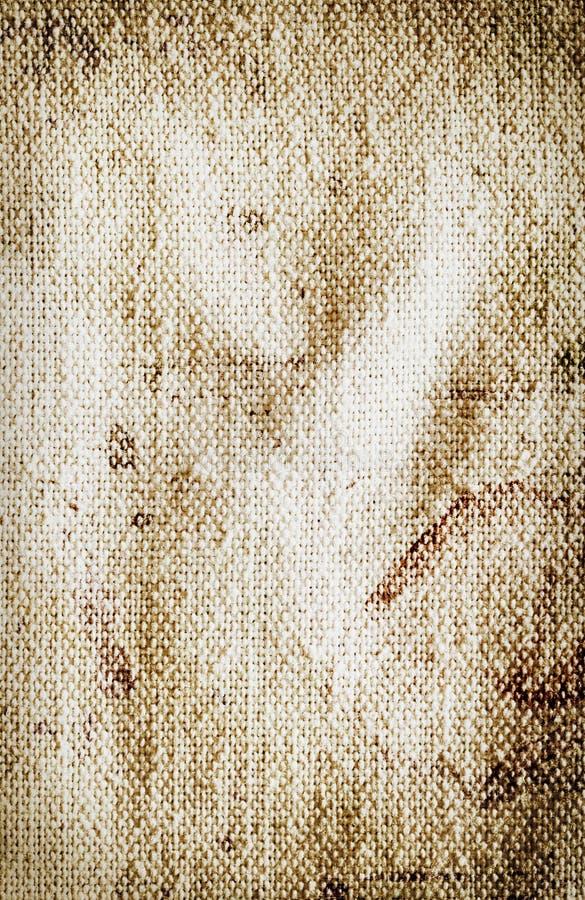 Vecchio panno bianco sporco fotografia stock libera da diritti