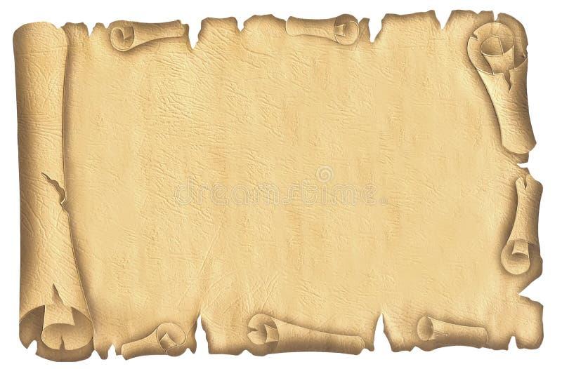 Vecchio papiro fotografia stock