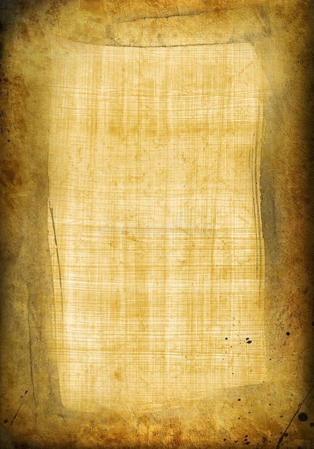 Vecchio papiro con il blocco per grafici illustrazione di stock