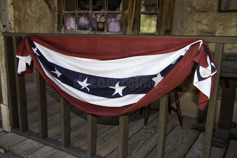 Vecchio patriottismo della città di selvaggi West immagini stock