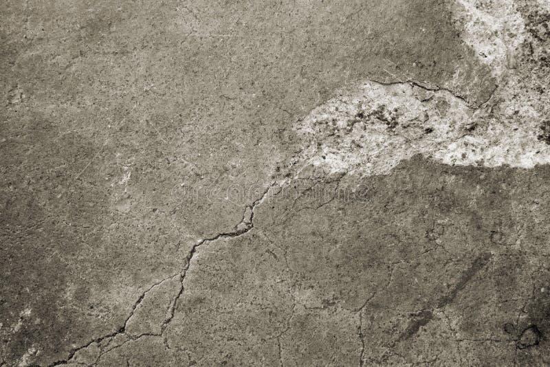 Vecchio pavimento di calcestruzzo eroso fotografie stock