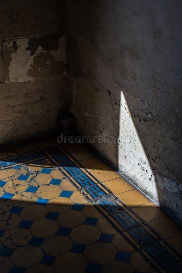 Vecchio pavimento di mosaico nelle ombre Architettura di Roma immagine stock libera da diritti