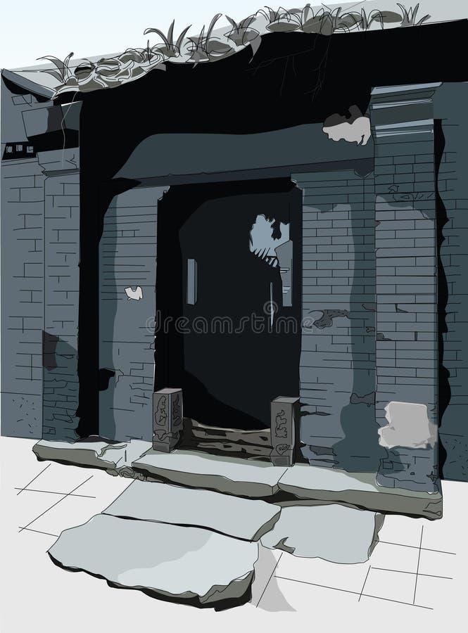 Vecchio Peking-1 illustrazione di stock