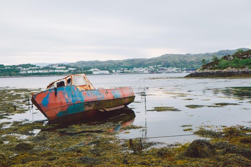 Vecchio peschereccio, Scozia fotografia stock