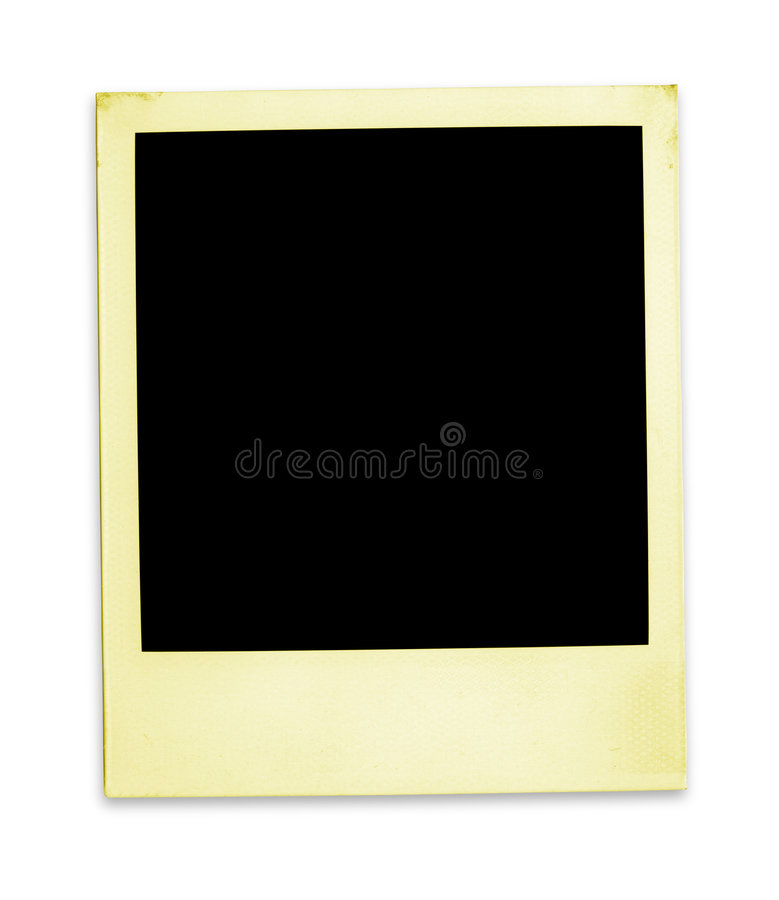 Vecchio Polaroid (percorso di +clipping, XXL) immagine stock libera da diritti