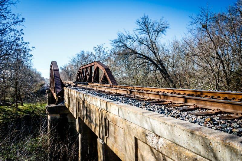 Vecchio ponte della ferrovia, Grainger Texas fotografia stock