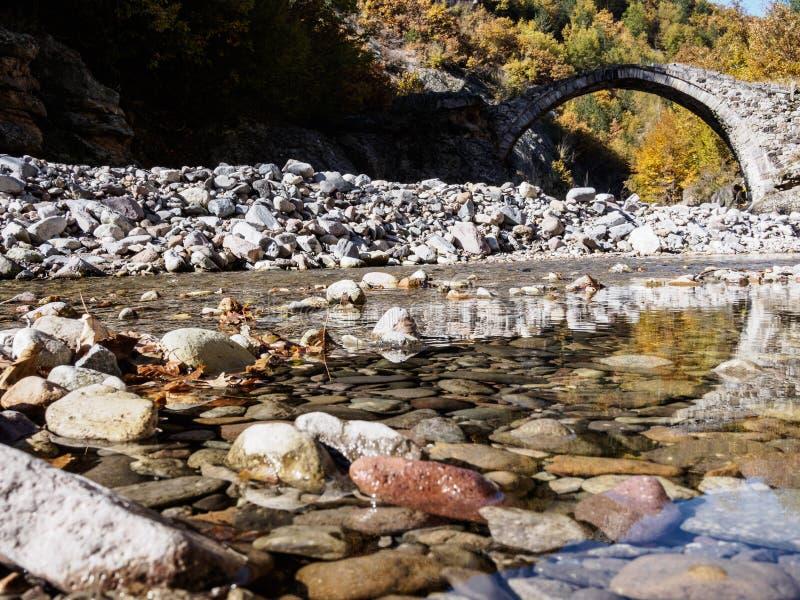 Vecchio ponte di pietra in Bulgaria immagine stock libera da diritti