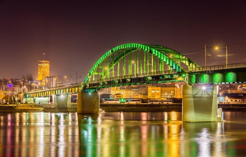 Vecchio ponte di Sava a Belgrado immagini stock