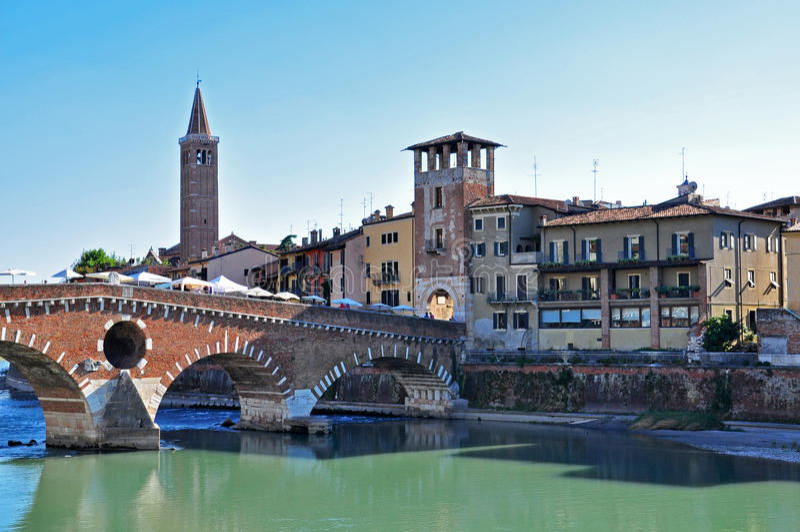 Vecchio ponte di Verona immagine stock