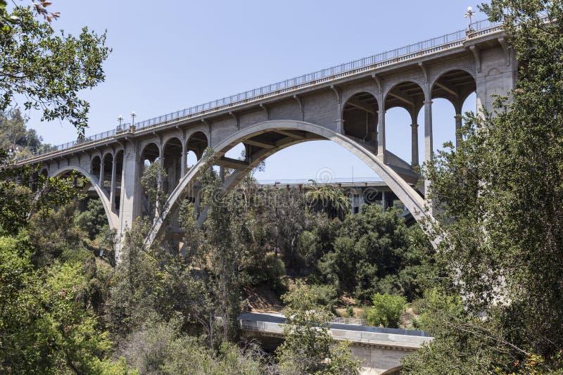 Vecchio ponte Pasadena, California di Arroyo immagini stock libere da diritti