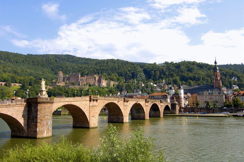 Vecchio ponticello, castello di Heidelberg immagine stock