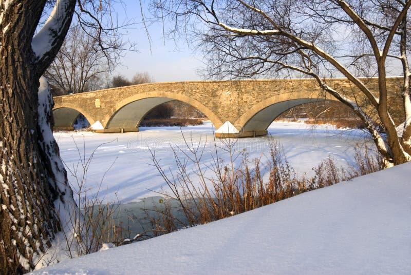 Download Vecchio Ponticello Del Laminatoio In Inverno Immagine Stock - Immagine di bordo, arco: 3875639
