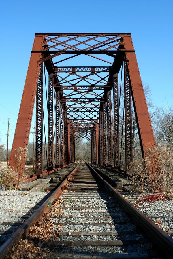 Vecchio ponticello della ferrovia immagini stock libere da diritti