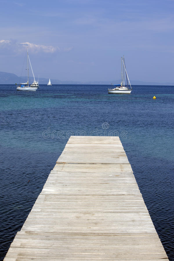 Vecchio pontone di legno immagini stock libere da diritti