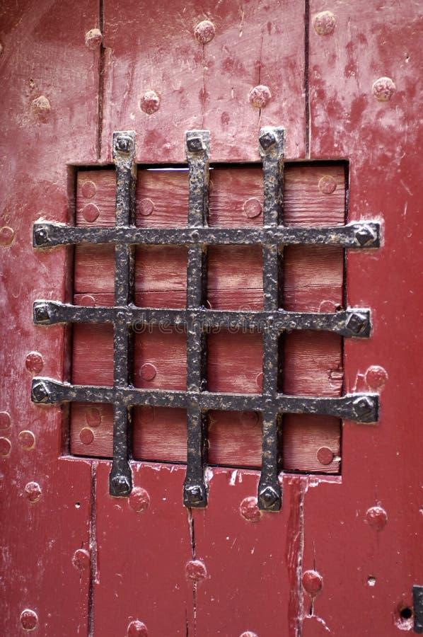 Vecchio portello della prigione immagini stock