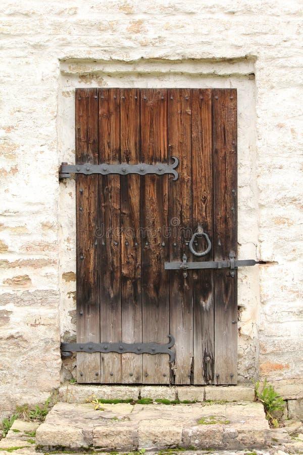 Vecchio portello di legno fotografie stock
