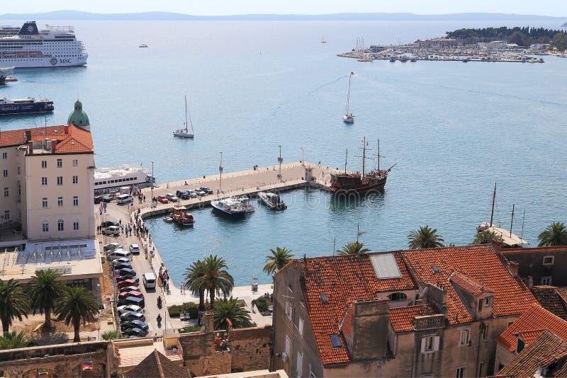 Vecchio porto della spaccatura, Croazia fotografia stock