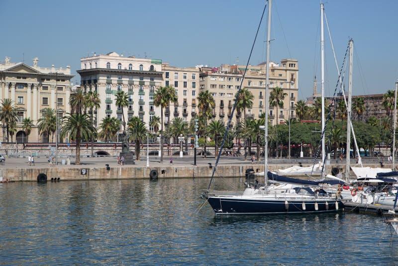 Vecchio porto di Barcellona immagine stock libera da diritti