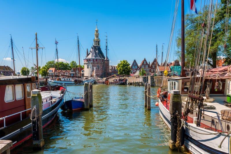 Vecchio porto di Hoorn Paesi Bassi fotografie stock