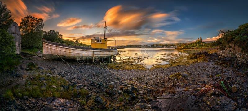 Vecchio porto di Kyleakin immagini stock libere da diritti