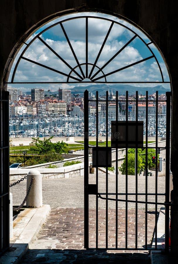 Vecchio porto di Marsiglia fotografie stock libere da diritti