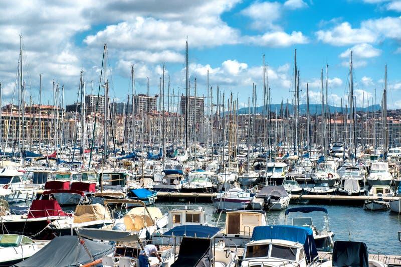 Vecchio porto di Marsiglia fotografia stock