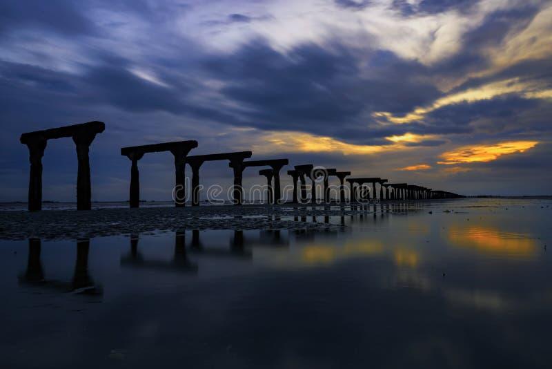 Vecchio porto di Silay (rovine) fotografia stock