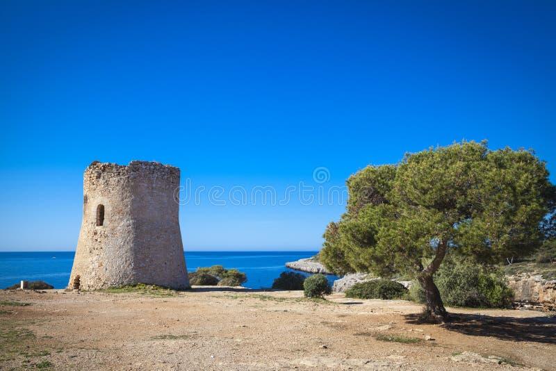 Vecchio posto di guardia a Cala pi fotografia stock