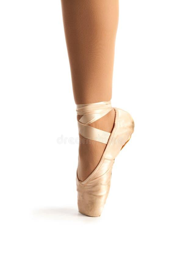 Vecchio primo piano del pattino di balletto di Pointe fotografie stock libere da diritti