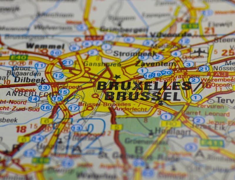 Vecchio programma di strada di Bruxelles immagine stock