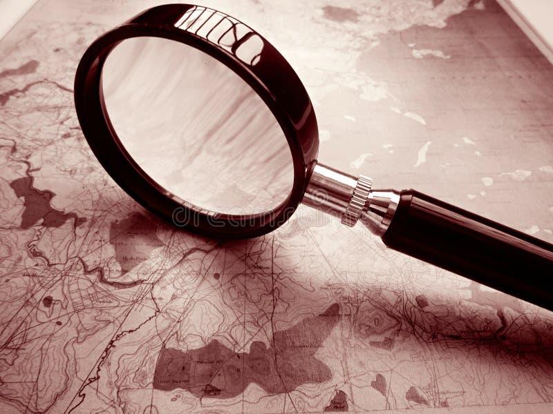 Vecchio programma topografico di Boston immagine stock libera da diritti