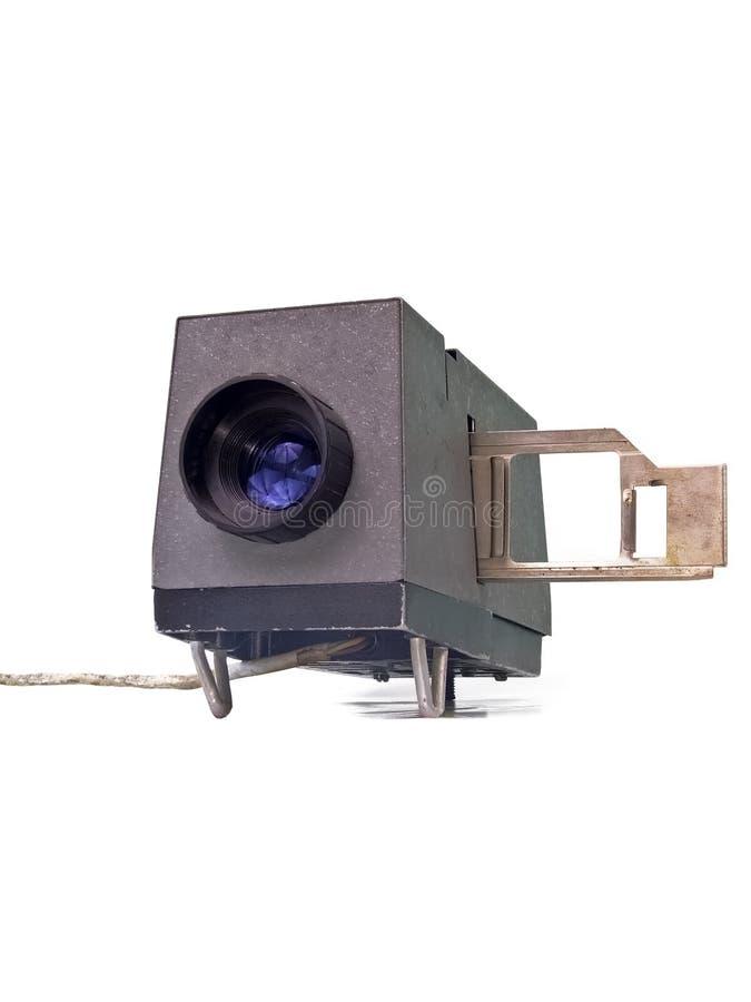 Vecchio proiettore del diametro immagine stock