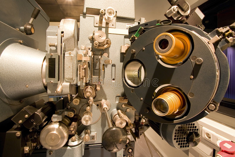 Vecchio proiettore di film fotografie stock libere da diritti