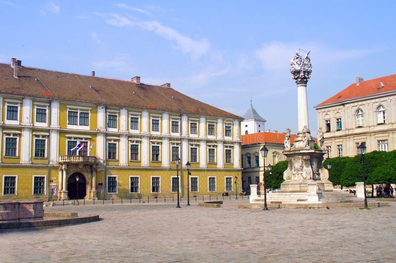 Vecchio quadrato della città immagine stock libera da diritti