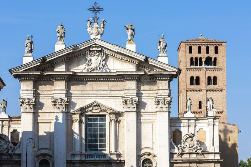 Vecchio quadrato a Mantova, Italia fotografia stock libera da diritti